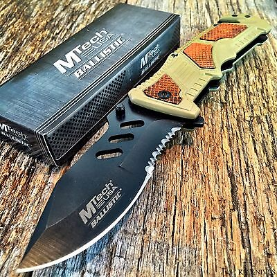 M-Tech Spring Assisted Open Tactical Rescue Combat Folding Pocket Knife TN -G