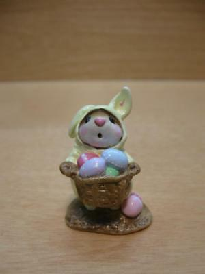 """Wee Forest Folk #M-82 """"EASTER BUNNY"""" Mouse 1982 Annette Petersen"""
