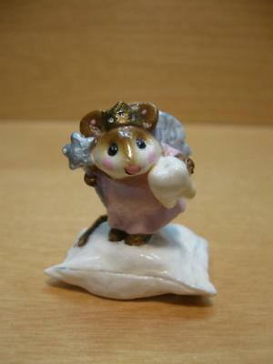 """Wee Forest Folk #M-148 """"TOOTH FAIRY"""" Mouse on Pillow 1987 Annette Petersen"""