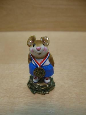 """Wee Forest Folk #MS-018 """"VICTOR"""" Red White & Blue Gold Medal Olympian 1996"""