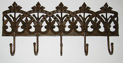 Victorian Eastlake Cast Iron Wall Coat Hanger Clothes Hooks