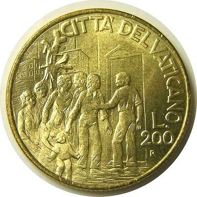elf Vatican City 200 Lire 1994 Pope Saint John Paul II Helping Victims of Drugs