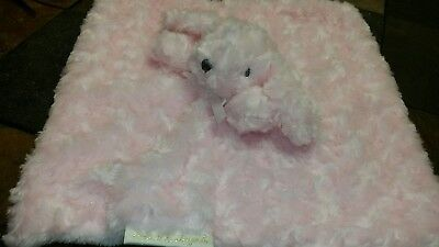 Blankets & Beyond Lovey Bunny Blanket NuNu Pink Swirl Soft rabbit dog poodle