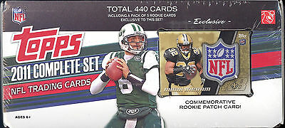 2011 TOPPS FOOTBALL Card Complete Factory Sealed SET Mark Ingram PATCH Rookies