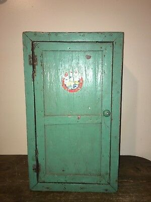 Antique Wood  Wall Mount Medicine Cabinet / WALL CABINET