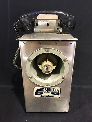 Vintage Loud Mouth Comtroller Coal Mining Telephone Works
