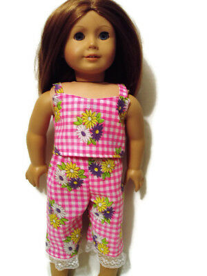 """Pretty In Pink Pajamas 18"""" doll clothes fits American Girl Capri & Camisole"""