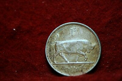 Ireland, 1941 Shilling, silver,  Partially Finished Ring, bowed, NR,         612