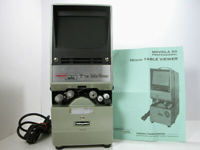 Rare Moviola 16mm VIEWER W/Instructions & Working  Larger Screen than Moviscop