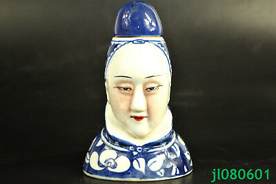 China Antique Collectible Old Porcelain handwork paint dowager big Snuff Bottle