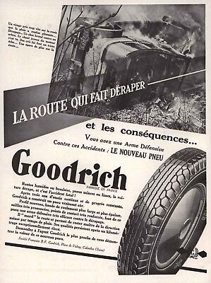 1932 Print Ad Goodrich Automobile Tires New Profile Reinforced Contact Points