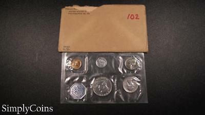 1960 Proof Set ~ Original Envelope With COA ~ US Mint Silver Coin Lot SKU-1056