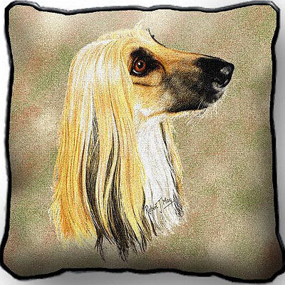 "17"" x 17"" Pillow - Afghan Hound by Robert May 1170"