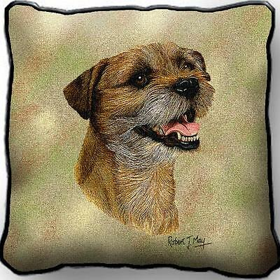 "17"" x 17"" Pillow - Border Terrier II by Robert May 2355"