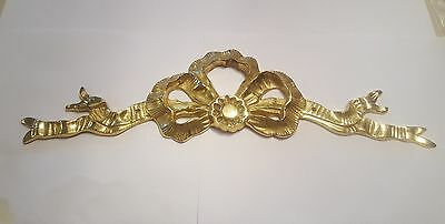 Vintage Solid Brass Decorative Ribbon Wall Hanger