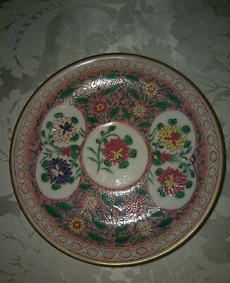 "Herend Antique Rare Hand Painted 5.75"" saucer/plate with very heavy enamels. ERS"
