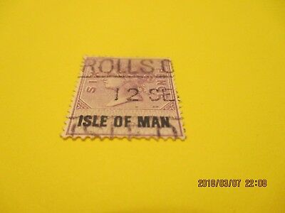 Isle Of Man Pre-Decimal Queen Victoria Six Pence Revenue Stamp Used Free Postage