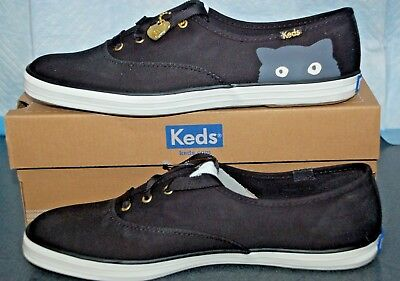 c7bfd3da1a0 TAYLOR SWIFT KEDS Sneaky Cat Black Sneakers Sz 9.5M NEW -  64.95 ...
