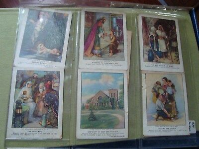 Vintage 1930 Lot Of 45 Different Bible Pictures For Our Little Ones Info Cards