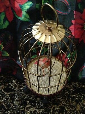Beautiful Antique Vintage Transiistor Chirrping Cage Japan Style Ornate