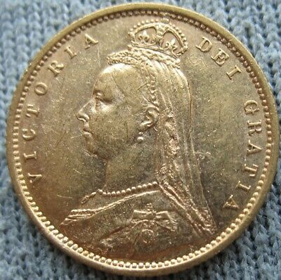 Great Britain 1892 Gold 1/2 Sovereign