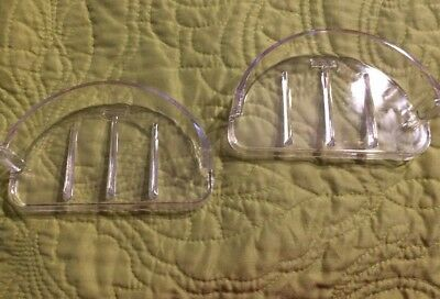 Lot Of 2 Vintage Hall Mack Soap And Bar Plastic Soap Dish Replacement New