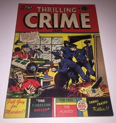 THRILLING CRIME CASES #47 FN+ 6.5 LB Cole Cover 1952