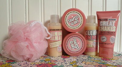 Soap & Glory Set Shower Gel Bubble Bath Hand Cream Butter Polish