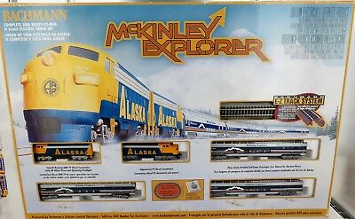 """.C 2000 N SCALE BACHMANN E-Z TRACK SYSTEM """"McKINLEY EXPLORER"""" COMPLETE BOXED SET"""