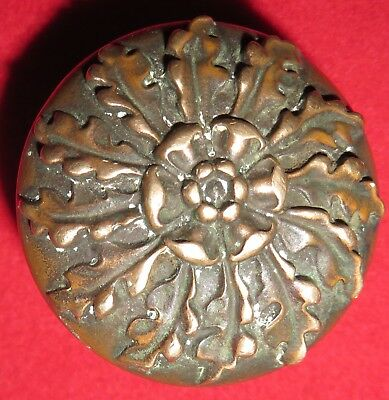 "RARE RUSSELL & ERWIN BRONZE SINGLE INTERIOR DOOR KNOB ""VEROCCHIO"" DESGIN c1890s"