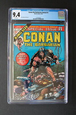 CONAN The Barbarian ANNUAL #1 Barry Windsor-Smith 1973 REH King Size CGC NM 9.4