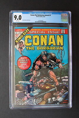 CONAN The Barbarian ANNUAL 1 Barry Windsor-Smith 1973 REH King Size CGC VFNM 9.0