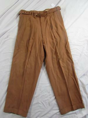 Vtg 50s Reston Drop Loop Fleck Hollywood Dress Pants Slacks Measure 32x28 Belt