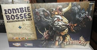 Zombicide Zombie Bosses Abomination Pack, New And Sealed