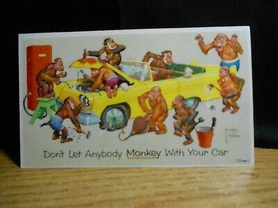 Prestone Anti-Freeze Fallers Sinclair Falls City Nebraska Monkey Car Auto Card