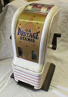 "Postage Stamp Machine US Post Office Northwestern 14"" Vintage Original Metal Old"