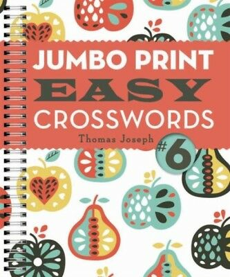 Jumbo Print Easy Crosswords #6 (Large Print Crosswords) (Spiral-b...