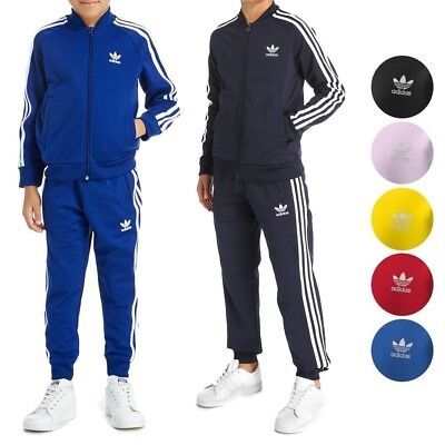 13ccc0fc63e7 Adidas Originals Superstar Tracksuit Jacket   Pants Junior Boys Youth ...