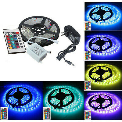 3pcs 3528 RGB LED Light Strip SMD 300 Flexible with 44 key Remote Control US