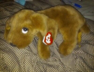 "Ty DROOPY DOG Large Plush Hound  15""  BROWN 3rd Gen STUFFED KOREA 1995"
