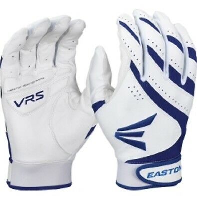 1 Pr Easton HF VRS Adult Small White/Royal Blue Fastpitch Womens Batting Gloves