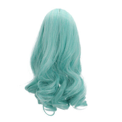 "Gradient Green Curly Hair Wig Repair for 18"" American Girl Dolls DIY Making"