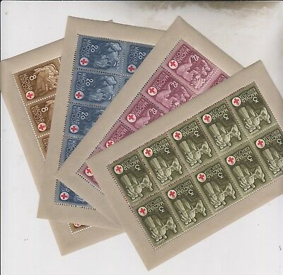 HUNGARY,1942,red cross set in sheets of 10 MNH