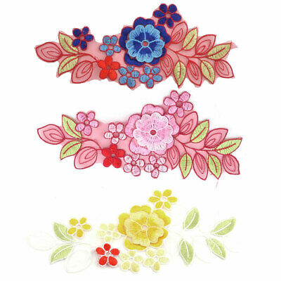 Polyester Flower Shape Embroidery Clothes Sewing Patch Decor Lace Applique