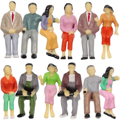 P25S 12pcs all Seated 1:25 Painted Figures LGB SCALE G