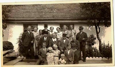 Old Antique Vintage Photograph Huge Group Photo Great Outifts