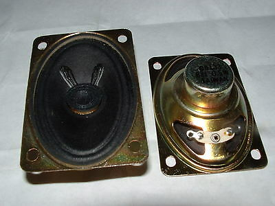 2 x small mini elliptical speaker 73 x 48mm oval 8 ohm D0133