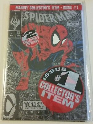 Spider-Man #1 Silver And Black Polybagged Cover Vf/nm