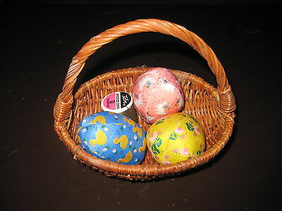 Vintage Sewing Pin Cushion - Basket of Easter Eggs