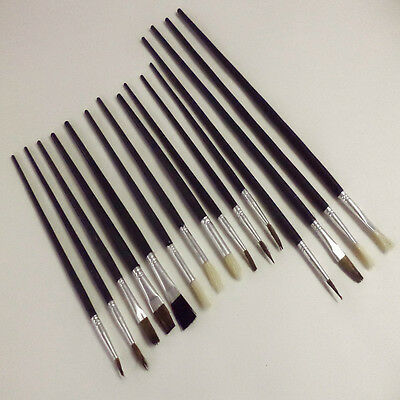 12Pc Artists Water Colours Paint Brush Set Fine Sizes Crafts Brushes Kit New
